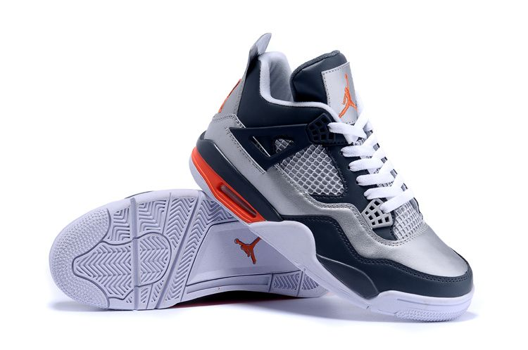 67704b42e1a1 Air Jordan 4 Retro Silver Midnight Blue Orange White - Google-Suche ...