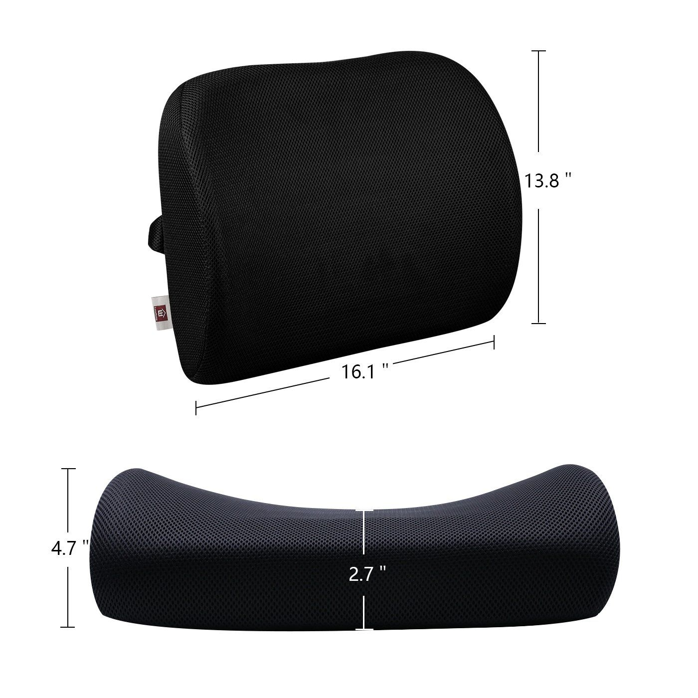 Lovehome lumbar support back cushion for office chair with