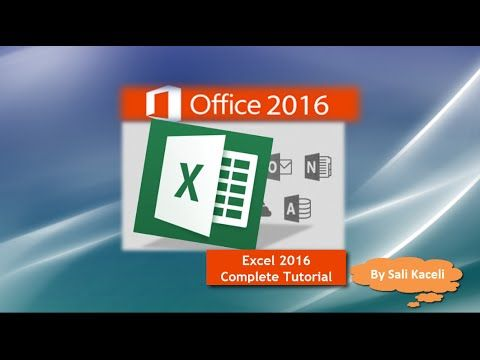 Excel 2016 Tutorial A Comprehensive Guide on Excel for Anyone