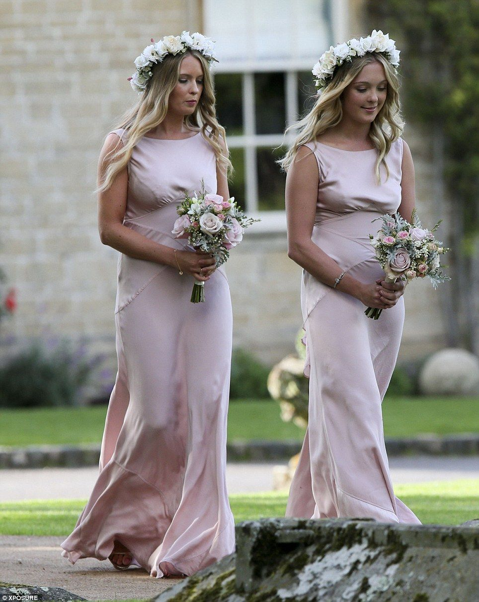 Millie mackintosh embraces new husband professor green at wedding bridesmaids millie chose pale pink dresses to complement her vintage lace gown and floral ombrellifo Gallery