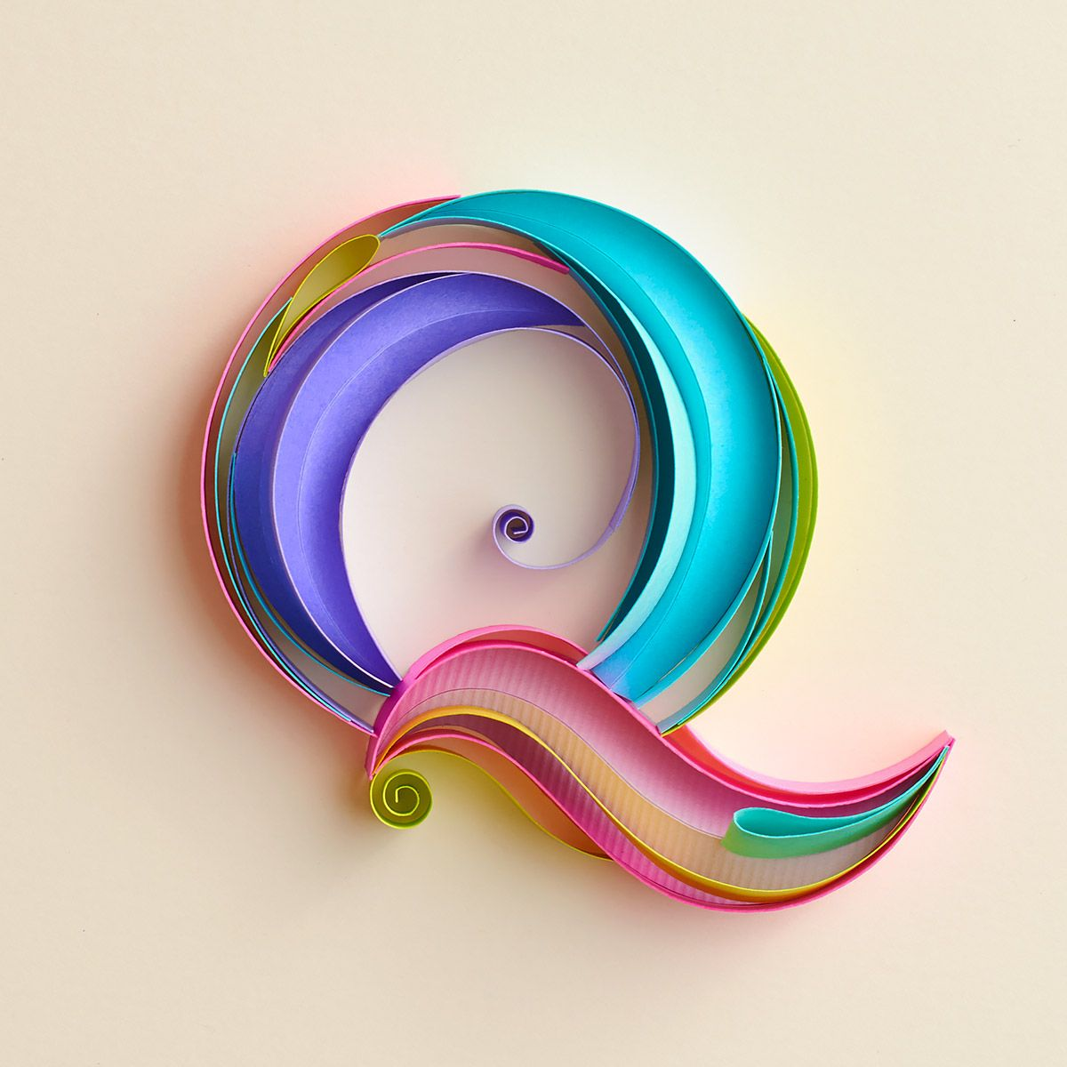 New Typographic Paper Artworks by Sabeena Karnik (With