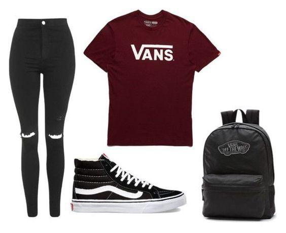 37 Fashionable Ways To Wear Vans #vans #sneakers #school