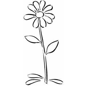 daisy coloring pages no stem - photo#10