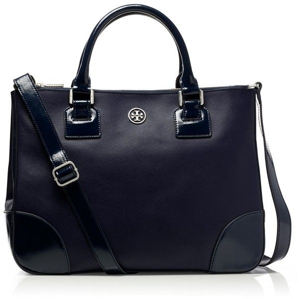 Tory Burch Robinson Double Zip Tote ($403) ❤ liked on Polyvore featuring  bags,