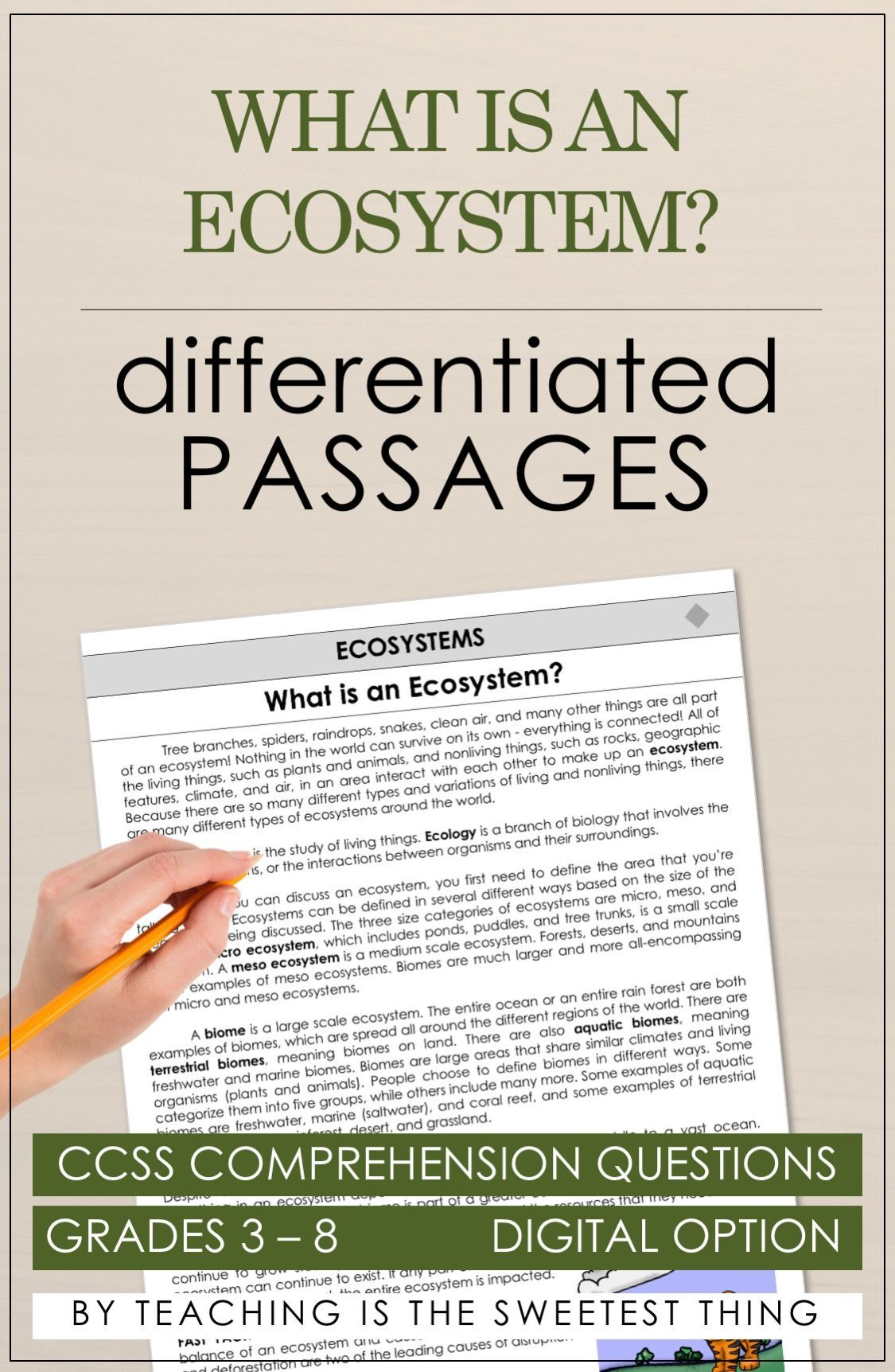 Ecosystems Passages