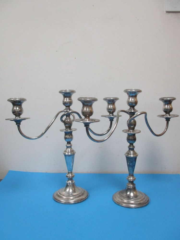 6195cdd648c Vintage Pair Sterling Silver Fisher Convertible Candelabra Candlesticks 329  #Fisher #FISHER