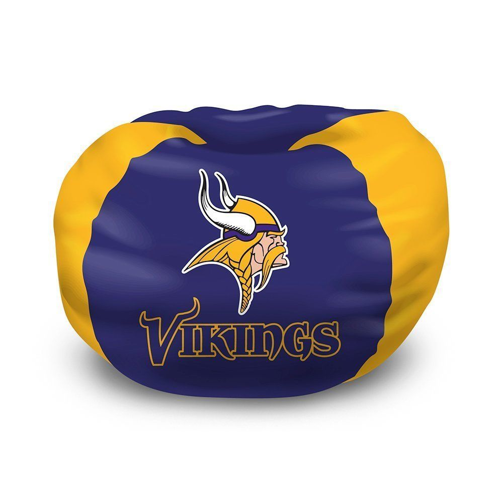 NFL Bean Bag Chair Minnesota Vikings Bedroom FREE SHIPPING  sc 1 st  Pinterest & NFL Bean Bag Chair Minnesota Vikings Bedroom FREE SHIPPING ...