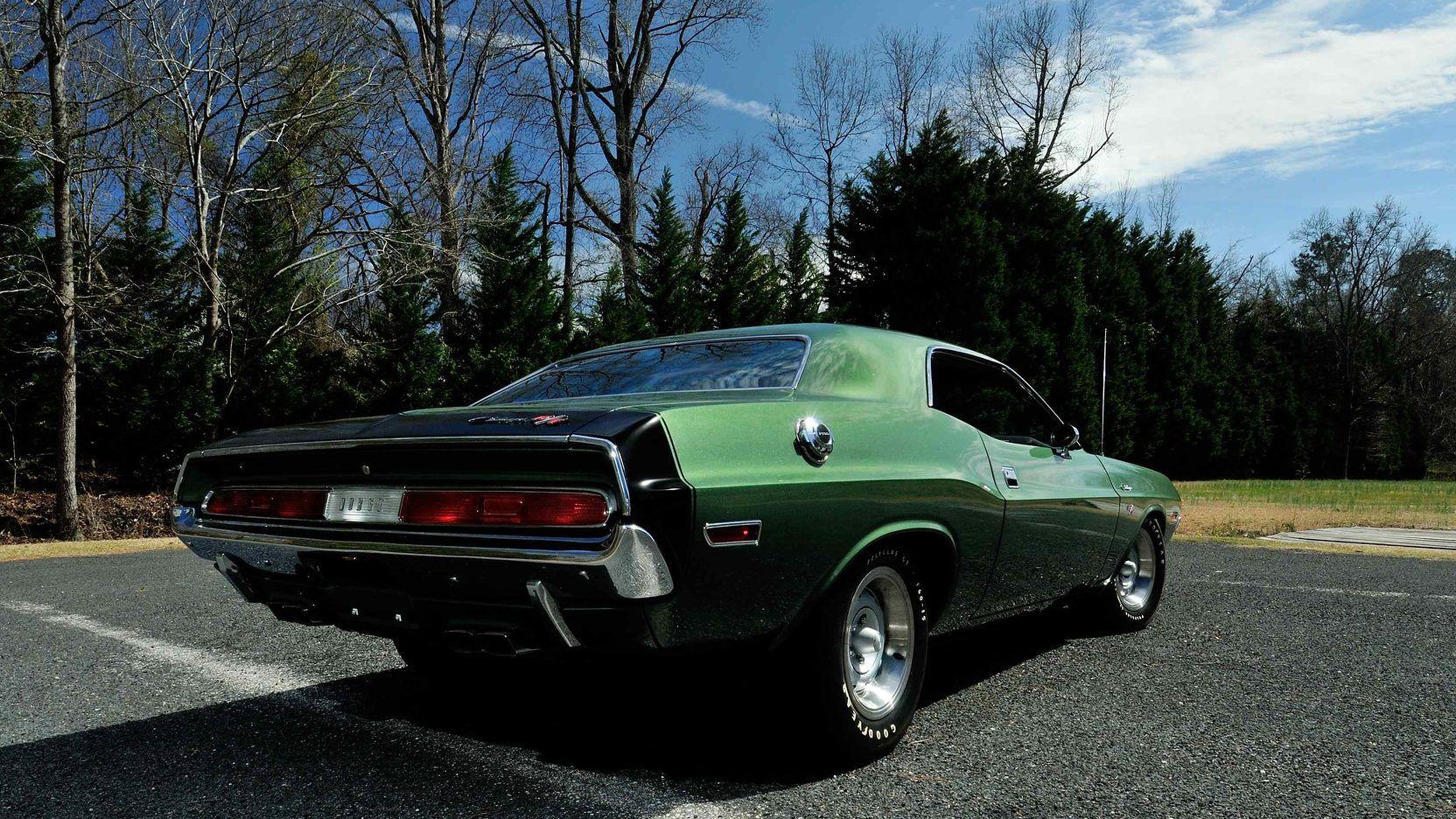 1970 Dodge Hemi Challenger Rt Shaker Car F8 Dark Green Metallic