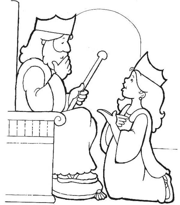 esther become kings harem in purim coloring page purim coloring