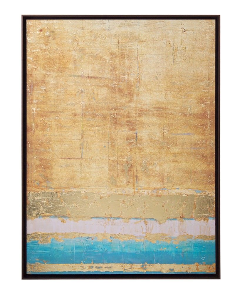 Stuart Ware\'s Aqua and Gold - Abstract - Wall Decor - Mirrors & Wall ...