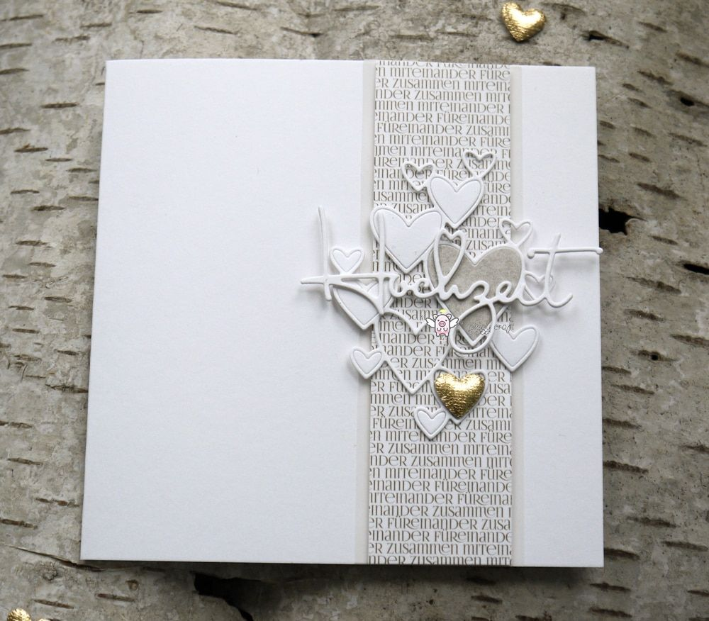 Just Married Metal Cutting Die,Heart,Wedding,Marriage,Stencil,Crafts,Card Making