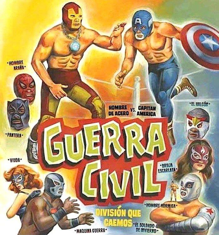 Marvel Civil War Luchadores