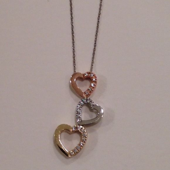 10k Gold Heart Necklace 10k Gold Heart Necklace with Diamonds 3