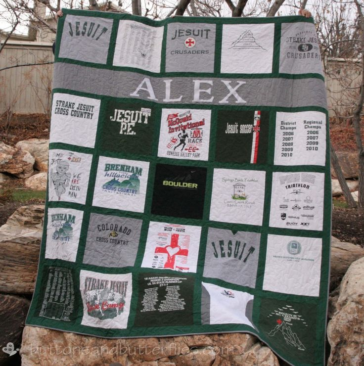 Buttons and Butterflies: Strake Jesuit Personalized {T-shirt Quilt ...