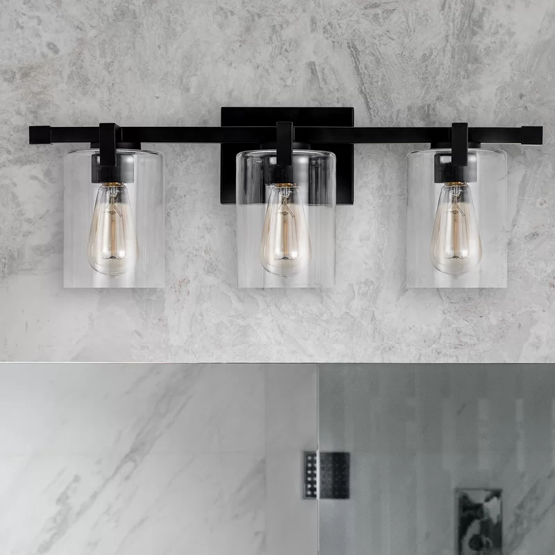 Hicklin 3 Light Dimmable Vanity Light In 2021 Modern Bathroom Light Fixtures Farmhouse Bathroom Light Light Fixtures Bathroom Vanity