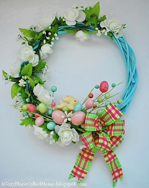 EASTER WREATHS | Easter egg and bunny wreath – A Cozy Place Called Home