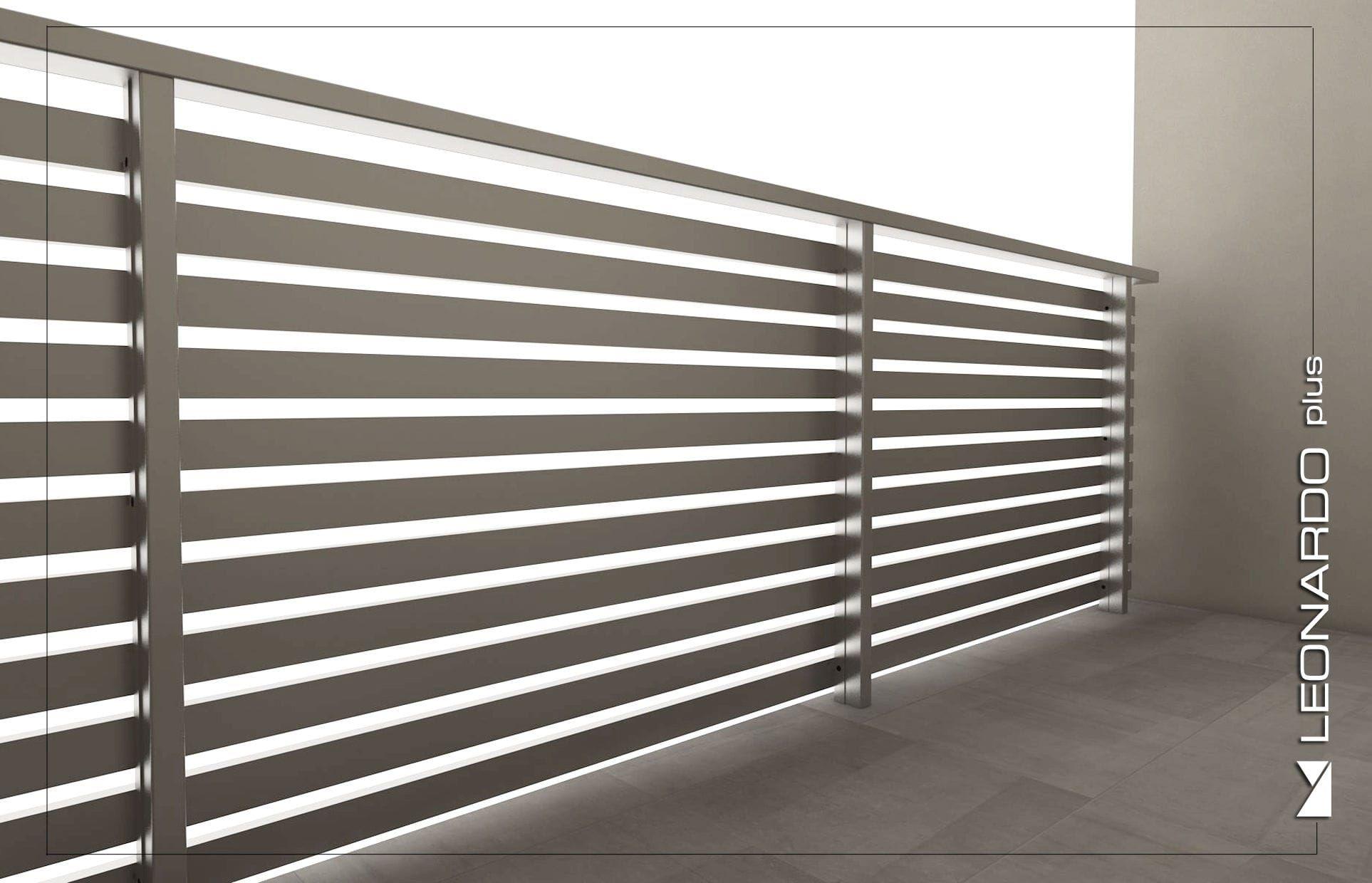 Barandilla De Aluminio De Barras De Exterior Para Balcon Leonardo Plus Mapier Group S R L Steel Door Design Door Design Steel Doors