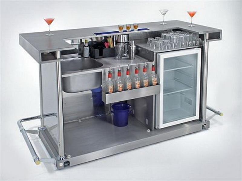 Modern Basement Bar Ideas With Grey Simple Home BarDigzine.com .