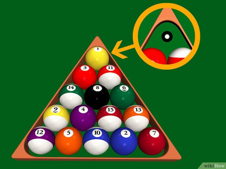 How To Rack A Pool Table 10 Steps With Pictures Wikihow >> Rack In 8 Ball Rackm Pool Table Play Pool Pool Cues