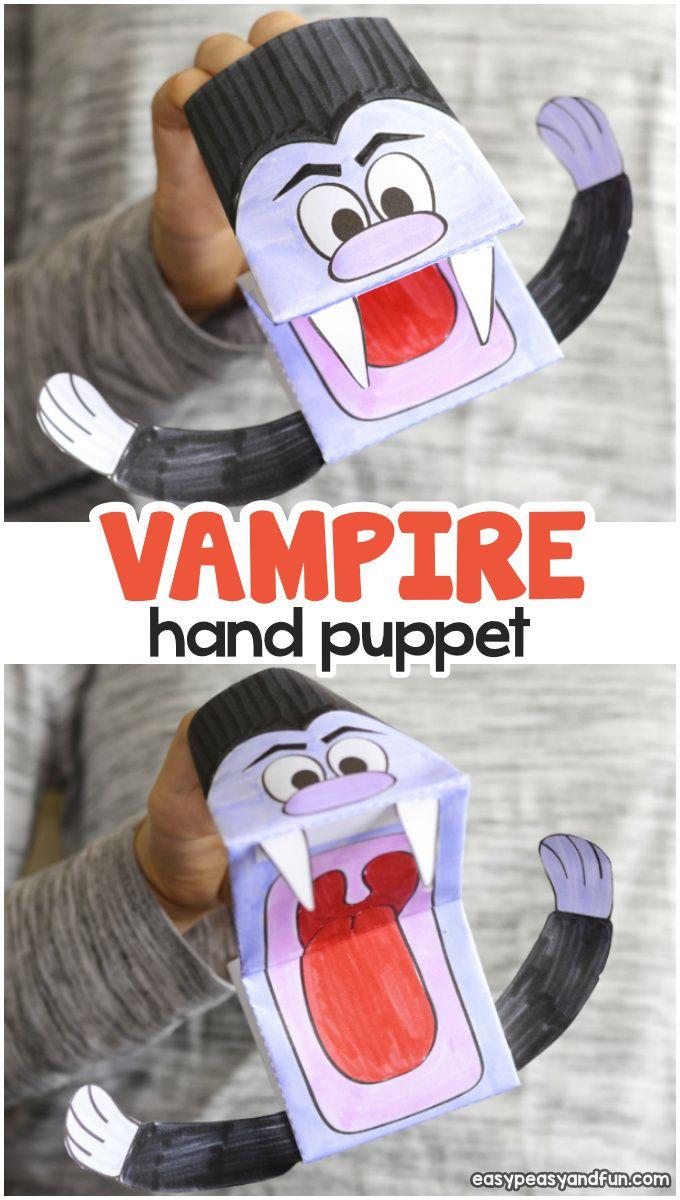 vampire puppet printable template