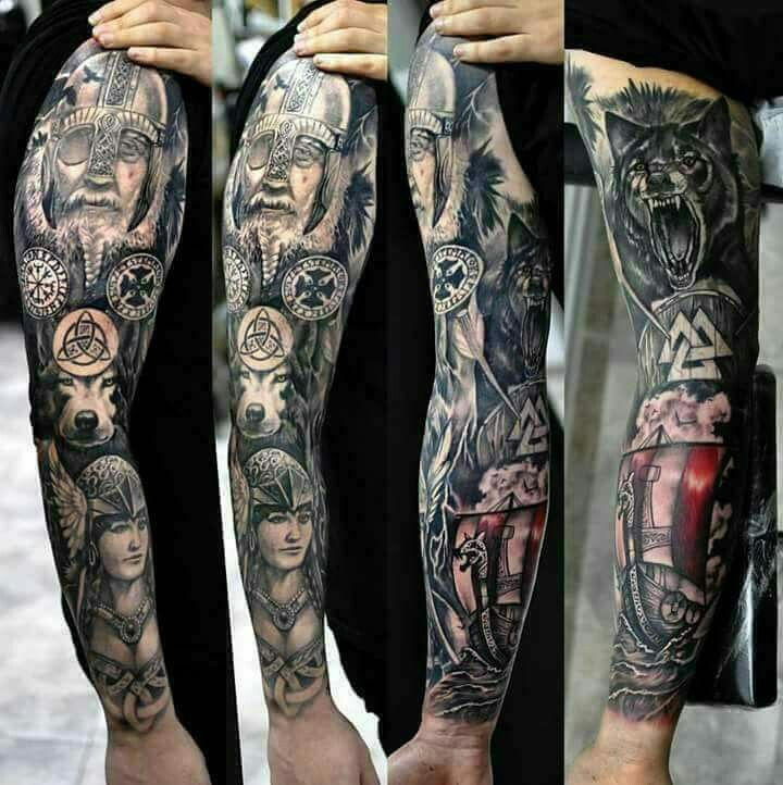 Viking Viking Tattoo Sleeve Sleeve Tattoos Arm Sleeve Tattoos