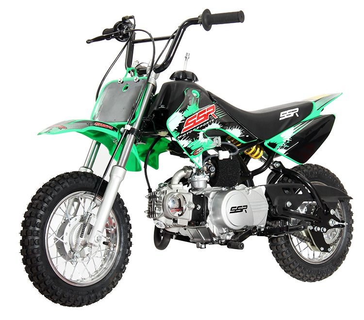 SSR 70cc Dirt Bike - Pit Bike. Youth Model - Semi-Automatic - Calif
