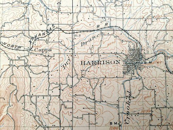 Antique Harrison, Arkansas 1905 US Geological Survey ...
