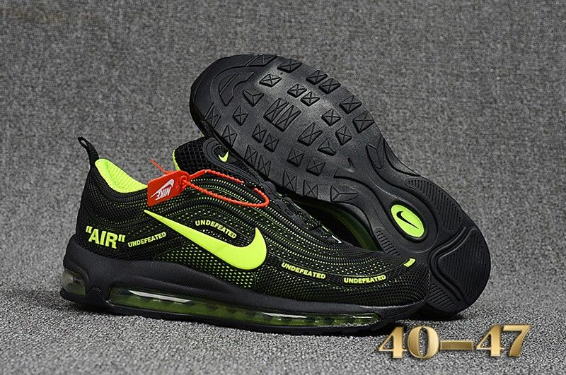 Mens Nike Air Max 97 Off White X Shoes Black Green 4b44ed9df