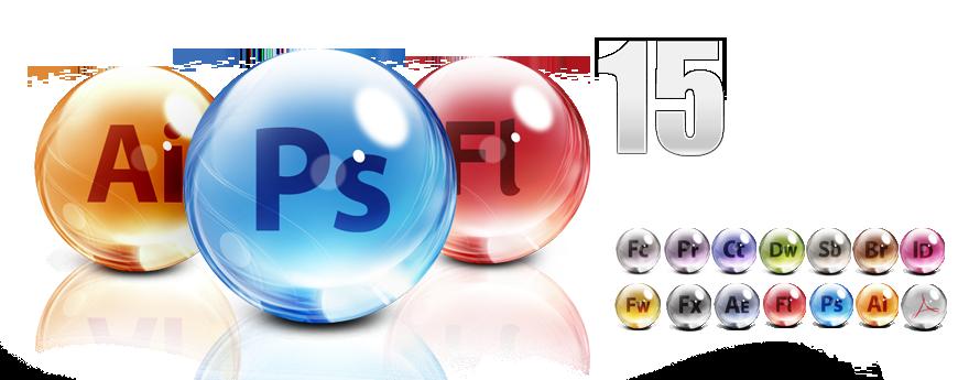 "Adobe CS5 Glass Dock icons ""Cool"" Icon pack, Gimp, Tutorial"