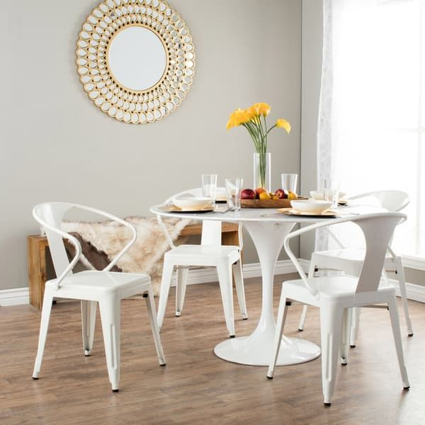 White Tabouret Stacking Chairs (Set Of   12950047   Overstock   Great Deals  On I Love Living Dining Chairs   Mobile