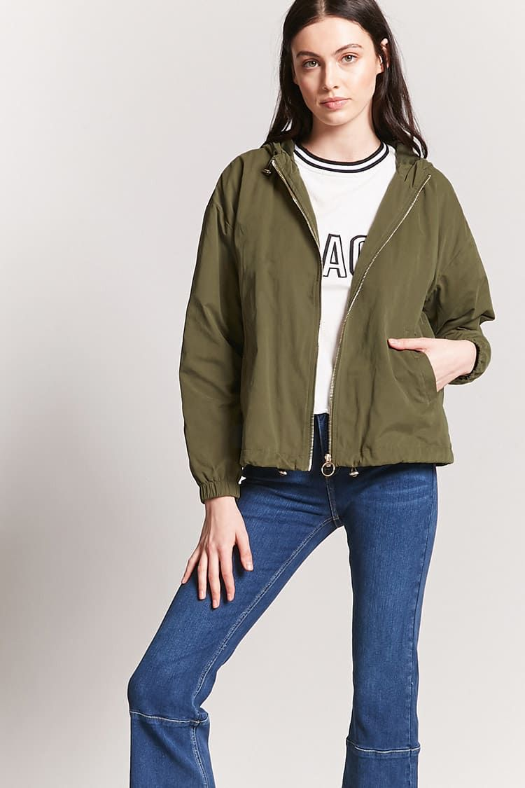 official photos 01b20 51b7f Hooded Pull-Ring Jacket | Styling at Forever21 | Jackets ...