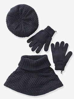 1cd49837771 Béret + col + moufles ou gants fille - vertbaudet enfant