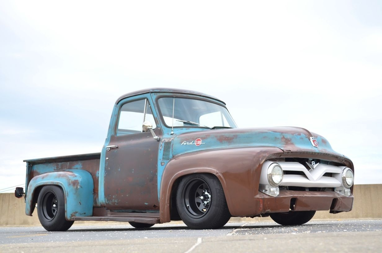 Ford f 100 patina truck hot rod lowered no reserve for Garage ford 78 plaisir