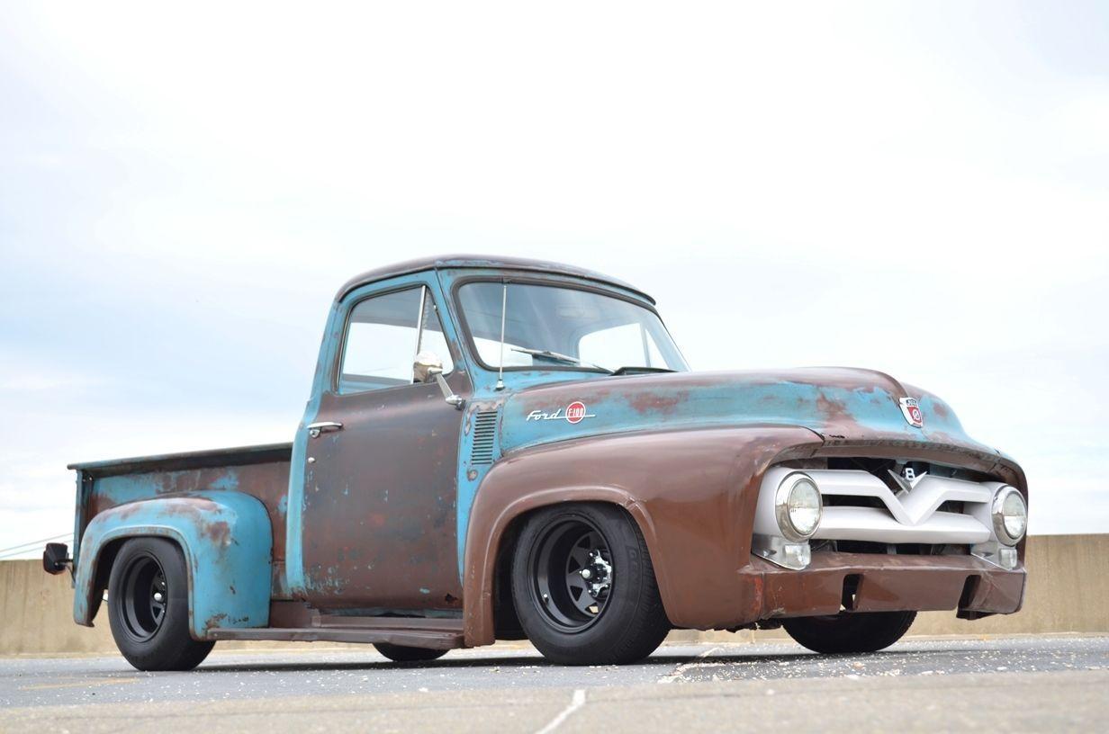1954 ford f 100 rat rod pickup restomod 406ci auto pdb ps patina 1953 1956 ford trucks pinterest rat rod pickup rats and ps