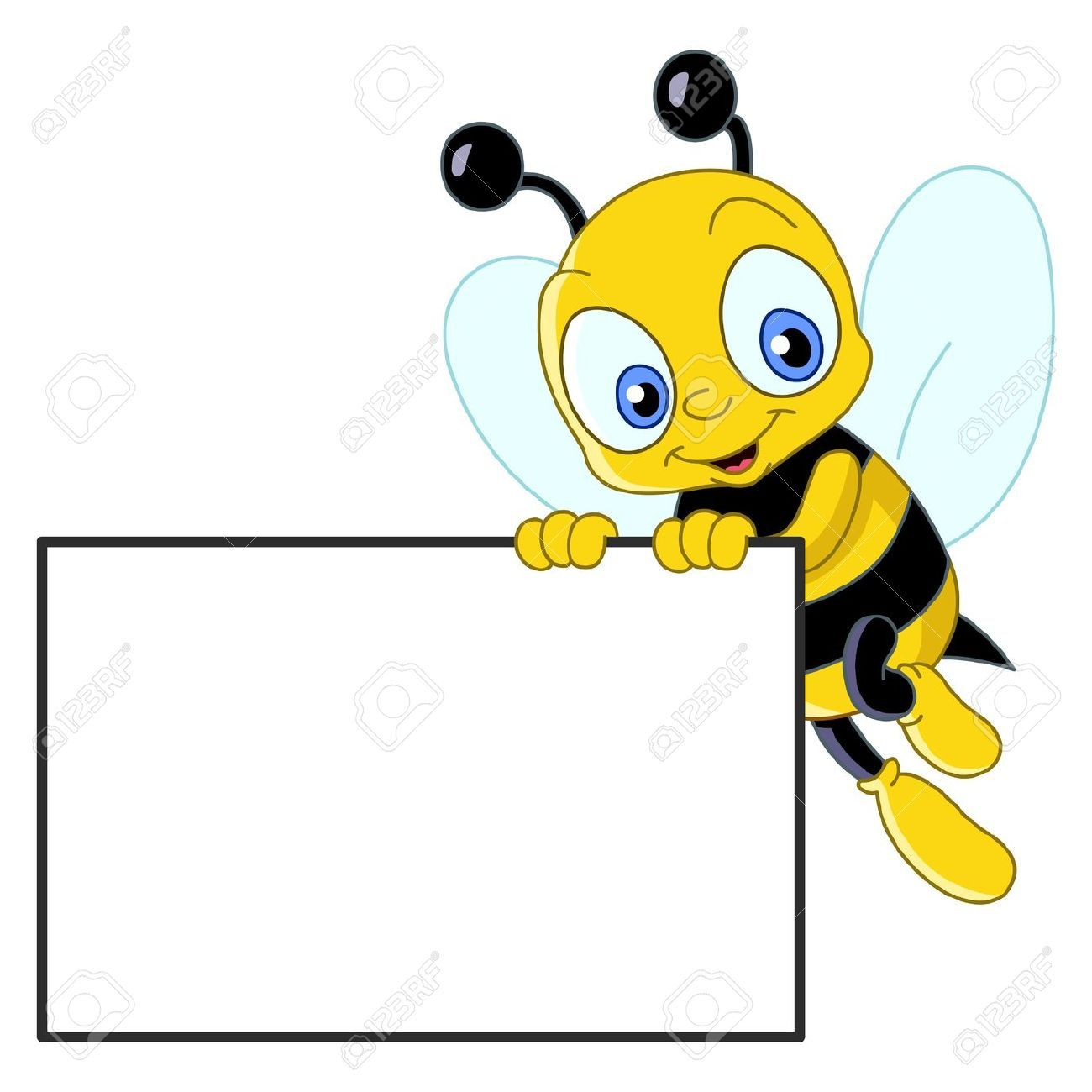 Cute bee holding a blank sign | Cute bee, Bee pictures ...