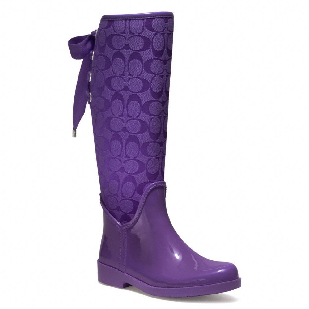 27b6b7f51892f Purple Coach Rain boots!!!! $128.00 | Shoes | Purple rain boots ...