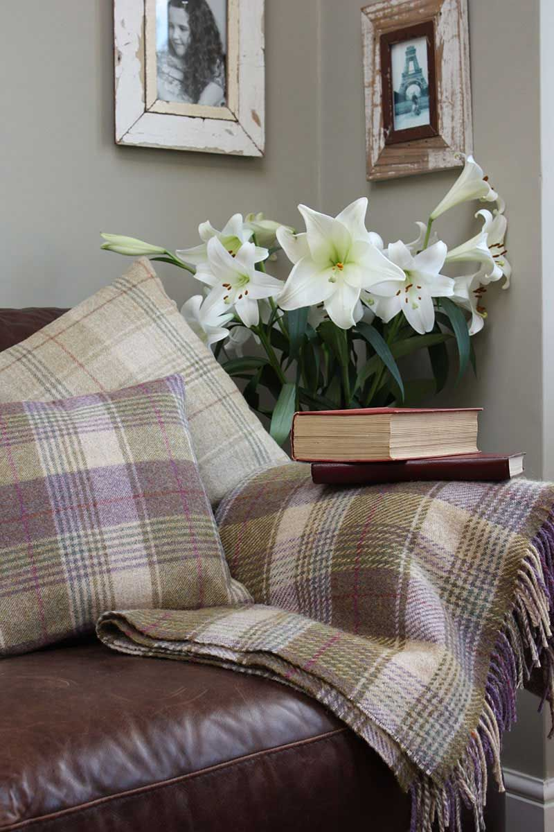 Loving Tweed Cushions And Throws, Perfect For The Cosy Winter Nights In!