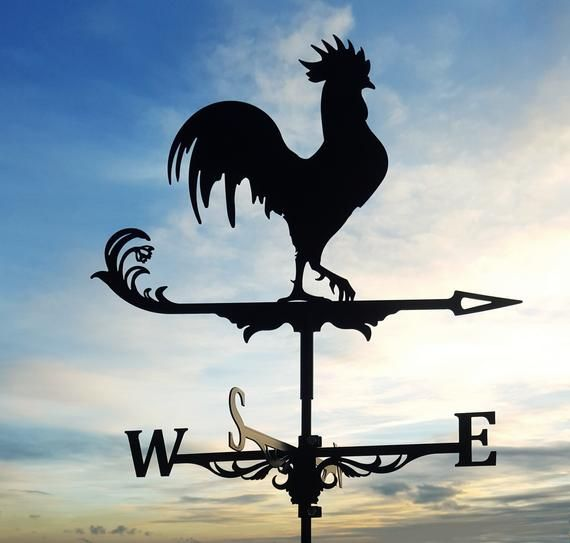 Black Rooster Chicken Metal Weathervanewind Idication And Decoration Of Your Homedimensions Assembly 31 Height X 20 Width 796mm X 51