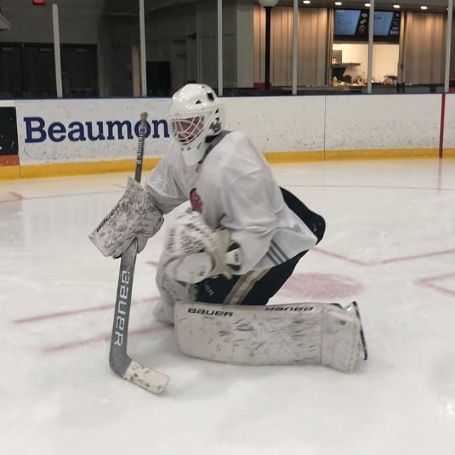 Low Tracking Rvh Recovery Drill For Goalies For Adam Hockey