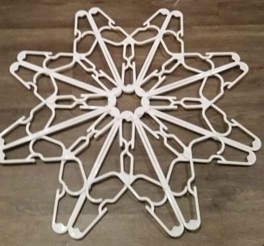 Coat Hanger Snowflake