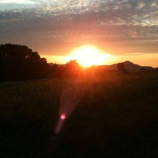 Sonnenuntergang im Ulstertal