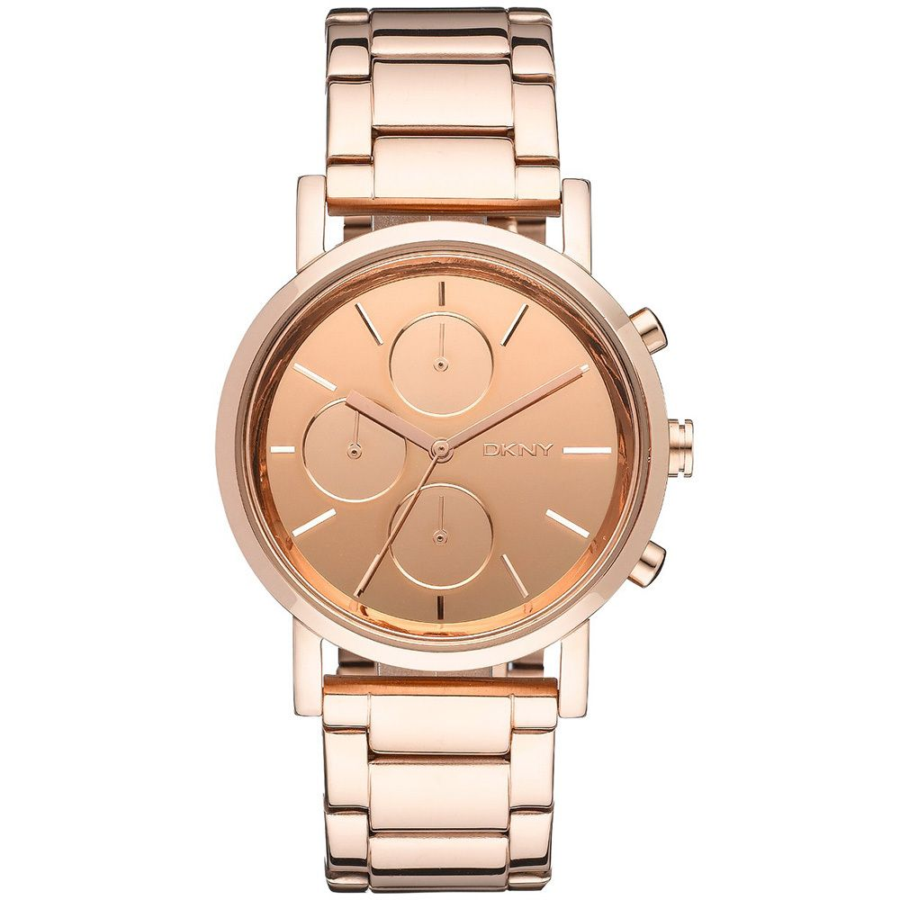 finest selection bb7cc d1ff8 DKNY Women's Mirror Rose-gold-tone Chronograph Watch ...