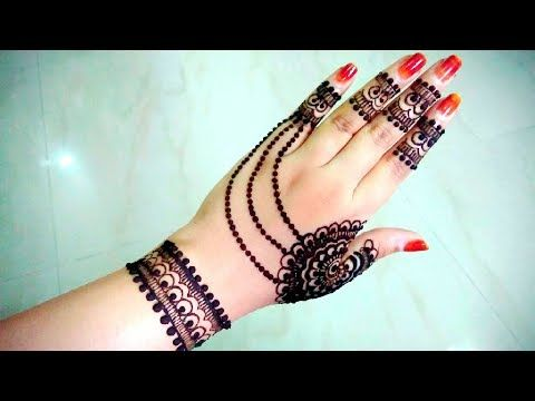 Apply Mehndi Hands : How to apply henna designs easy latest best jewellery mehndi
