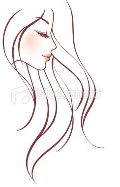 Women Profile With Long Hair Vector Drawings Face Drawing Drawing People