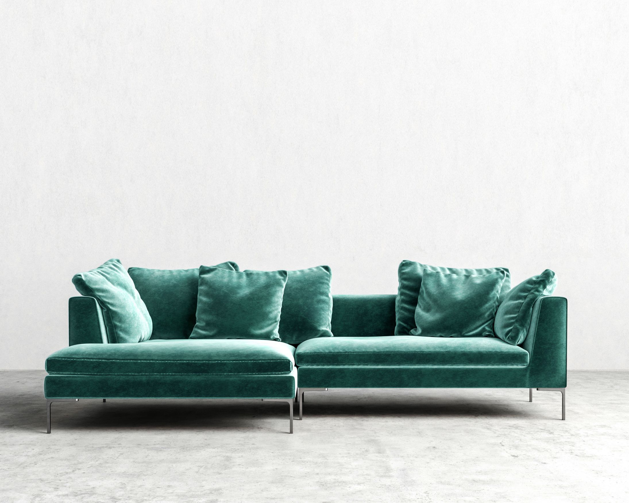 Hugo sectional aquamarine