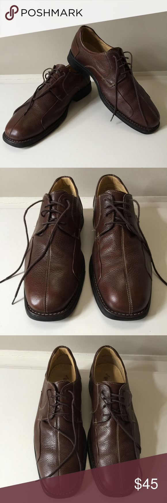 7db35342fe Belvedere Bay Bridge Brown Leather Shoes 12EEE Mens Belevedere Studio Bay  Bridge Brown Pebbled Leather Lace Up Shoes Size 12EEE Made in Brazil Very  good ...