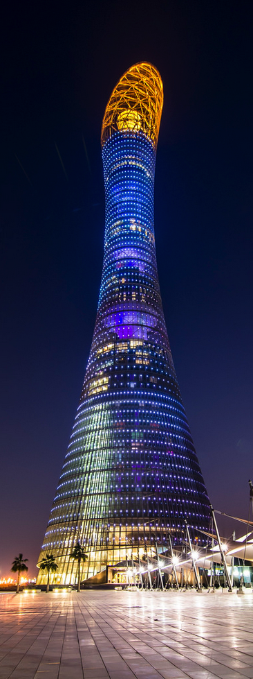 Aspire Tower in Doha, Qatar. Wow. I would love to visit - firstly, work on my photography skills!                                                                                                                                                                                 More
