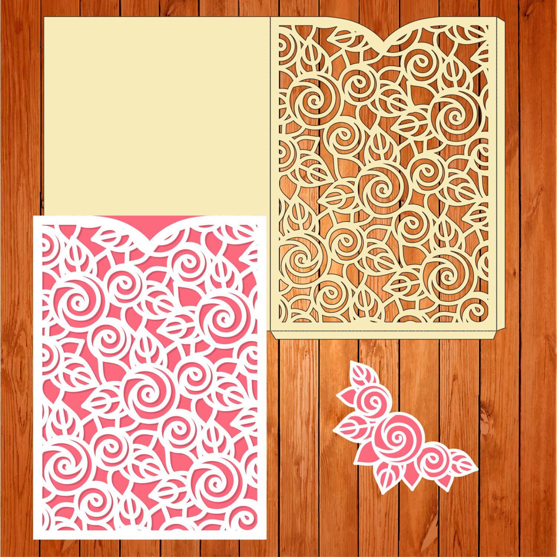 Invitación de la boda tarjeta plantilla, arabescos, hojas, flores ...