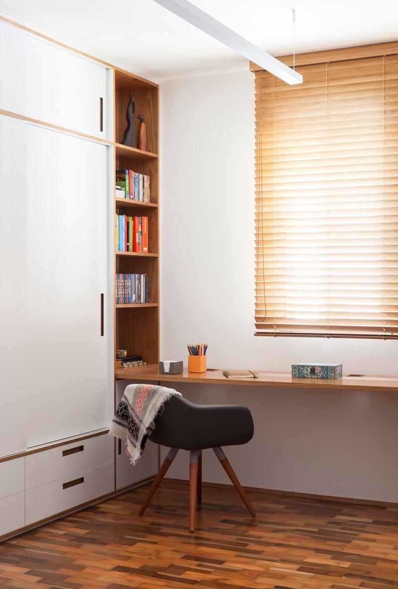 Apartamento Reformado Madeira Ladrilho Hidr Ulico Geom Trico E  ~ Quarto De Hospede E Escritorio No Mesmo Ambiente