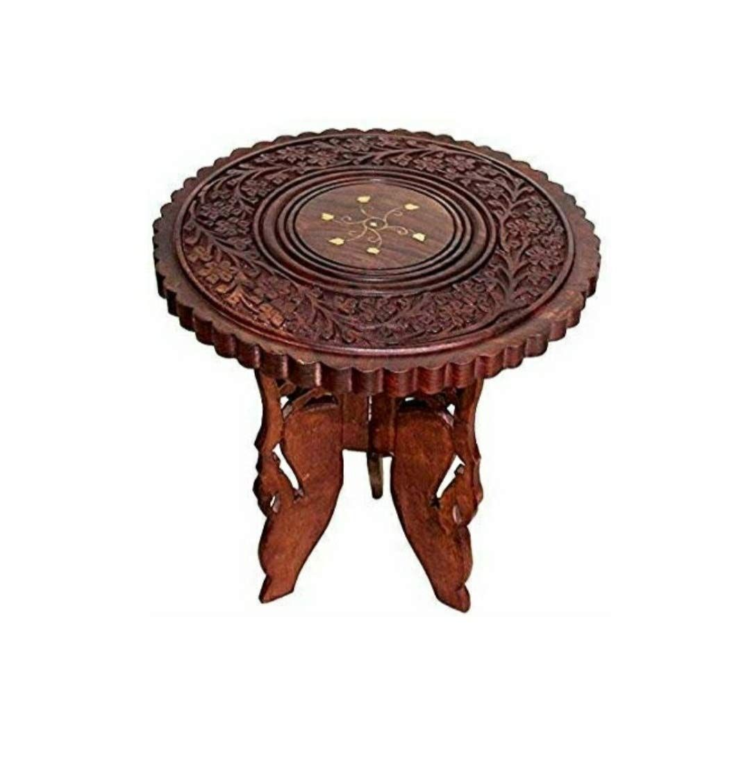 Wooden City Handicrafts Sheesham Wooden Table End Coffee Table For Living Room Living Room Table Wooden Tables Round Furniture [ 1104 x 1080 Pixel ]